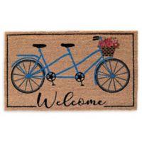 Bike Welcome Coir Door Mat