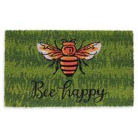Bee Happy Coir Door Mat