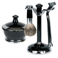 4-Piece Men Shave Set in Chrome/Black