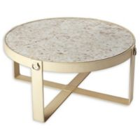 Butler Cosmopolitan Leather & Mother-of-Pearl Coffee Table