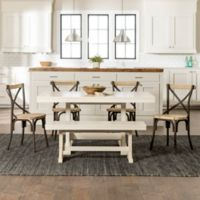 Forest Gate Whiteridge 7-Piece Dining Set in Antique White