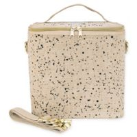 SoYoung Splatter Insulated Lunch Pouche in Linen