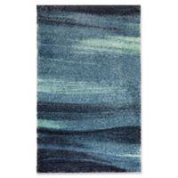 Blue Ocean 3' X 4' Powerloomed Accent Rug in Blue