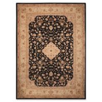 Nourison Heritage Hall 5'6 x 8'6 Area Rug in Black/Tan