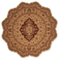 Nourison Heritage Hall 8' Round Area Rug in Lacquer