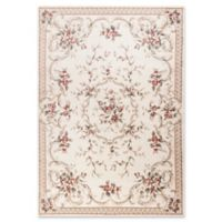 KAS Avalon Aubusson 5'3 x 7'7 Area Rug in Ivory