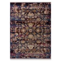 KAS Papillon Jeweltone Cypress 5'3 x 7'10 Area Rug in Blue