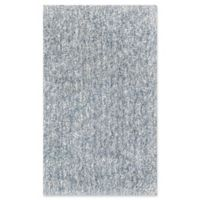 KAS Bliss Solid Shag 2'3 x 3'9 Area Rug in Slate