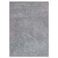 KAS Bliss Solid Shag 2'3 x 3'9 Accent Rug in Heather Grey