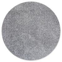 KAS Bliss Solid Shag 6' Round Area Rug in Heather Grey