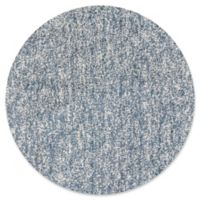 KAS Bliss Solid Shag 8' Round Area Rug in Slate