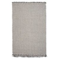 KAS Maui Houndstooth 5' x 8' Area Rug in Ivory/Grey