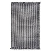KAS Maui Houndstooth 5' x 8' Area Rug in Grey