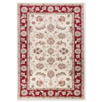 KAS Avalon Mahal 5'3 x 7'7 Area Rug in Ivory/Red