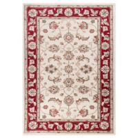 KAS Avalon Mahal 9' x 12' Area Rug in Ivory/Red