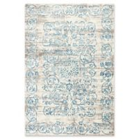 KAS Courtyard Crete 3'3 x 4'7 Area Rug in Ivory/Blue