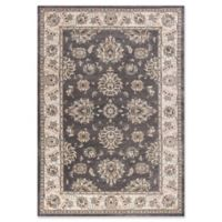 KAS Avalon Kashan 3'3 x 5'3 Area Rug in Grey/Ivory