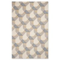 KAS Eternity Elements 2'3 x 3'9 Accent Rug in Ivory/Grey