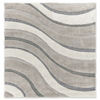 KAS Monterrey Waves 6'6 x 6'6 Area Rug in Grey