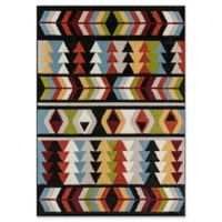 Rugs America Allura 5' X 7' Powerloomed Area Rug in Black