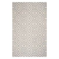 KAS Eternity Escape 3'3 x 5'3 Area Rug in Sand/Blue