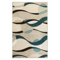 KAS Eternity Handcrafted Rug in Ivory/Blue