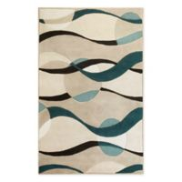 KAS Eternity 2'3 x 3'9 Handcrafted Accent Rug in Ivory/Blue