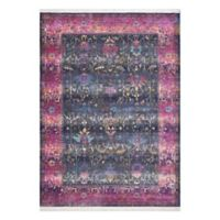 KAS Papillon Eden 5'3 x 7'10 Area Rug in Charcoal