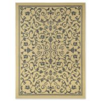 Rugs America Basia 5' X 7' Powerloomed Area Rug in Ivory