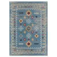 Rugs America Giovanna 5' X 7' Powerloomed Area Rug in Blue