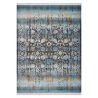 KAS Papillon Charisma 5'3 x 7'10 Area Rug in Turquoise