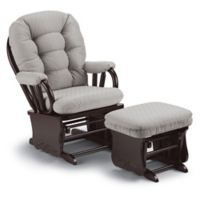 Best Chairs Bedazzle Glider and Ottoman in Cement
