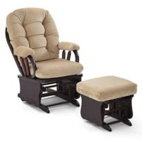 Best Chairs Bedazzle Glider and Ottoman in Tan