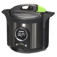 Presto 6 qt. Pressure Cooker Plus in Black Stainless Steel