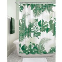 iDesign® Watercolor Fern Fabric Shower Curtain