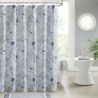Madison Park Milo Shower Curtain in Blue/White