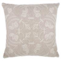Rope Design Square Throw Pillow in Natural/Cream