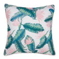 Tropical Print Square Throw Pillow