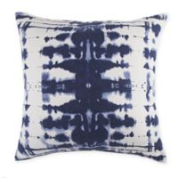 Rorschach Print Square Throw Pillow in Navy