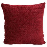 Chenille Solid Square Throw Pillow in Red