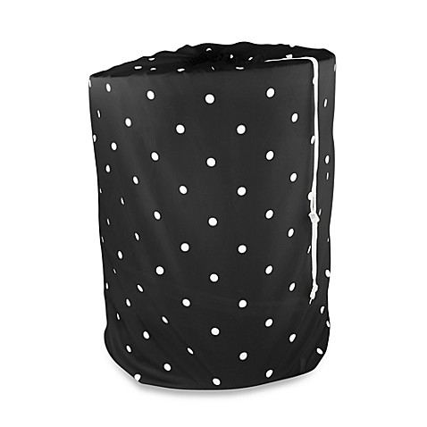 Park B. Smith® Classic Polka Dot Laundry Bag in Black/White