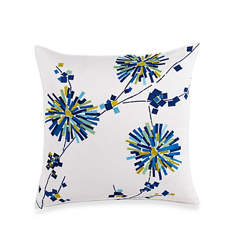 Trina Turk® Trellis Firecracker Floral 18-Inch Square Toss Pillow in Turquoise