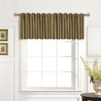 United Curtain Co .Dupioni Silk Rod Pocket Blackout Straight Valance in Taupe