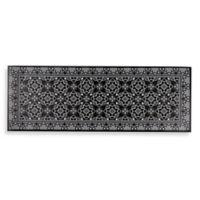 "Home Dynamix Cook N' Comfort 19.6"" x 55"" Medallion Kitchen Mat in Grey"