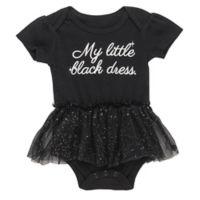 """Baby Starters® Size 12M """"My Little Black Dress"""" Tulle Skirt Bodysuit in Black"""