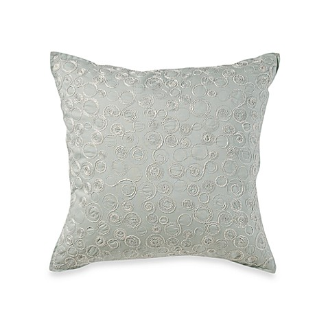 Real Simple Linear Square Throw Pillow in Aqua - Bed Bath & Beyond