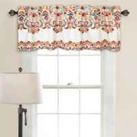 Lush Décor Clara Ruched Window Valance in Turquoise