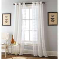 Payton 84-Inch Grommet Window Curtain Panel Pair in White