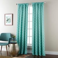 Alex 84-Inch Rod Pocket Window Curtain Panel in Turquoise
