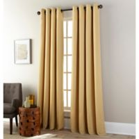 Everett 84-Inch Grommet Window Curtain Panel in Gold